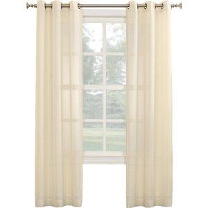 Linda Solid Sheer Grommet Single Curtain Panel