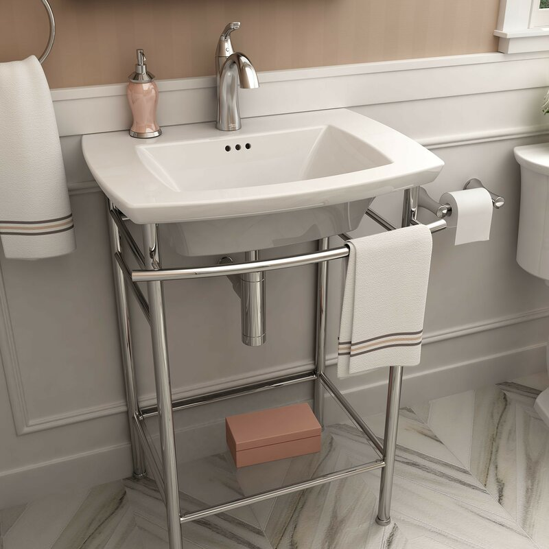 """Edgemere 25"""" Console Bathroom Sink with Overflow"""