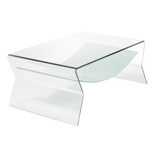 Fab Glass and Mirror Bent Glass Coffee Table