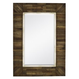 Mirror with Country Style Natural Wood Frame by Majestic Mirror