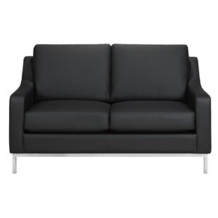 Bland Leather Loveseat