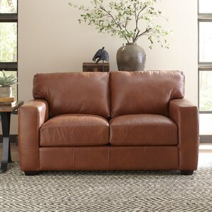 Pratt Leather Loveseat by ..