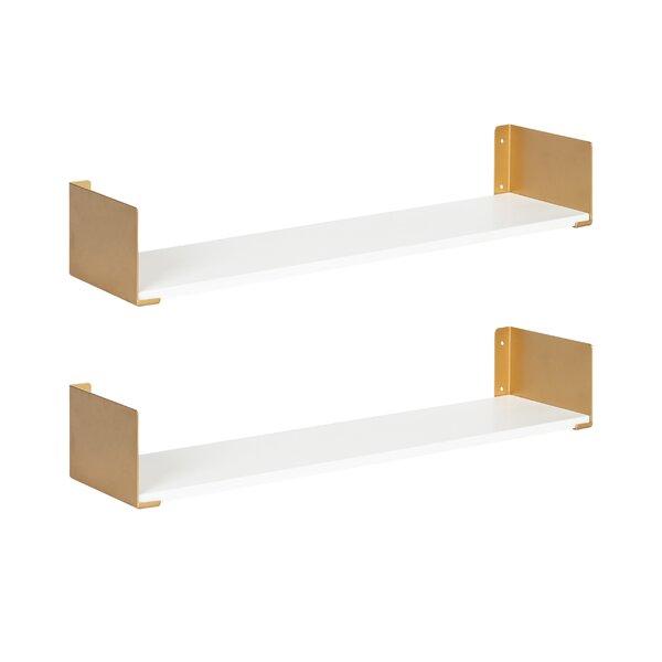 Modern Contemporary White Lacquer Floating Shelf Allmodern