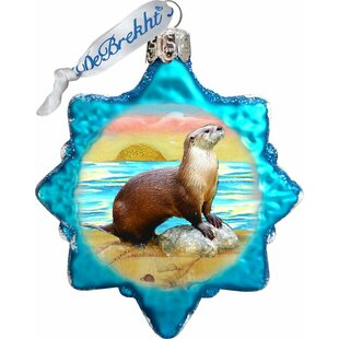 Sea Otter Coastal Shaped Ornament by The Holiday Aisle