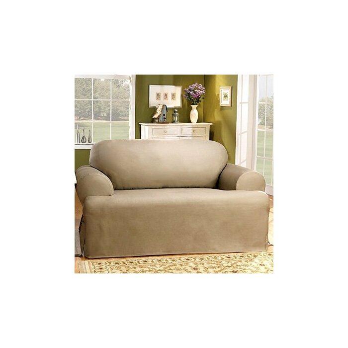 Groovy Cotton Duck T Cushion Loveseat Slipcover Interior Design Ideas Grebswwsoteloinfo