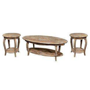 Lark Manor Francoise 3 Piece Coffee Table Set