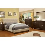 Hoghni Ivory Queen Bed With Night Stand, Dresser And Mirror Set by Red Barrel Studio