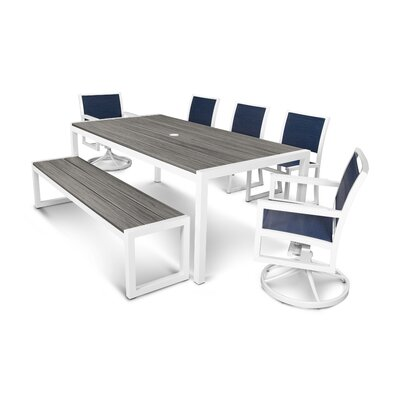 Parsons 7 Piece Dining Set Trex Outdoor