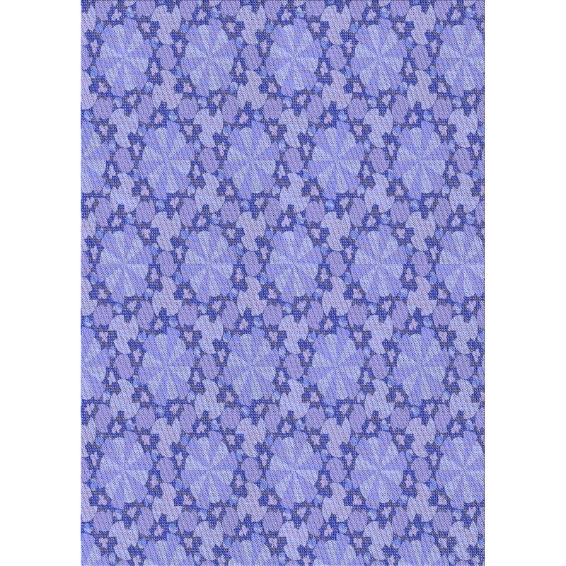 East Urban Home Woulk Floral Wool Blue Area Rug Wayfair
