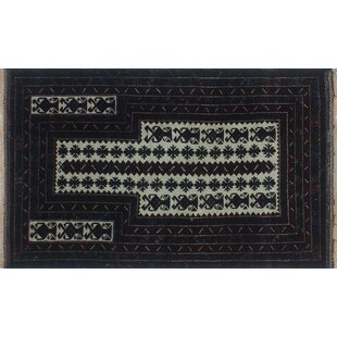 Savings One-Of-A-Kind Brook Hand-Knotted 2'11 x 4'8 Wool Black Area Rug By Isabelline