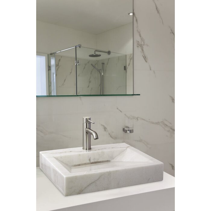 Above Counter Bowl Stone Rectangular Vessel Bathroom Sink