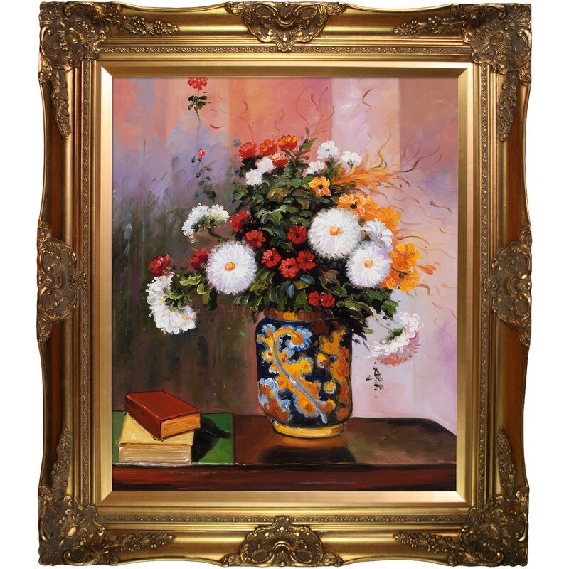 Astoria Grand Bouquet Of Flowers Chrysanthemums In A China Vase