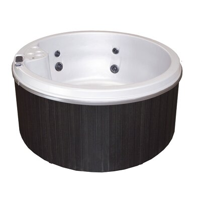 Cyanna Valley Spas 5-Person 9-Jet Plug and Play Hot Tub Finish: White/Charcoal