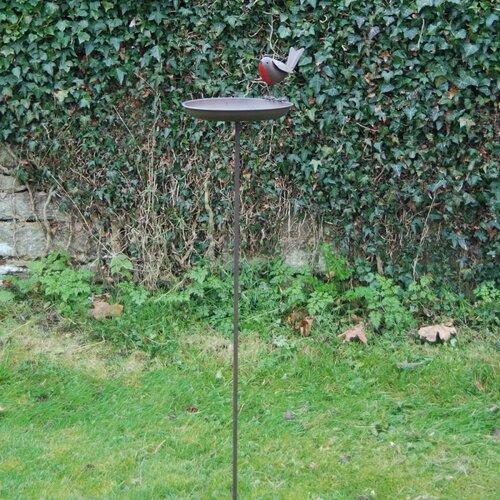 Robin Birdbath with stake Brambly Cottage