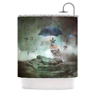 Umbrella Bird Single Shower Curtain