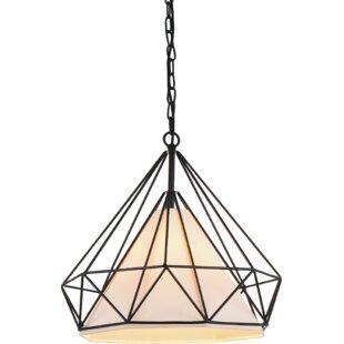 Diamond 1-Light Pendant by CWI..