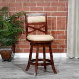 Leftwich Leather Swivel Bar & Counter Stool by Charlton Home®