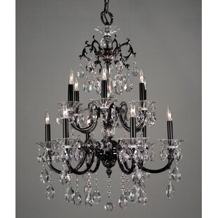 Via Lombardi 12-Light Candle Style Chandelier by Classic Lighting