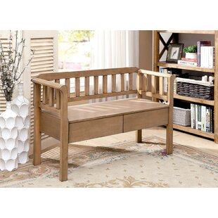 Millwood Pines Shea Slatted Wooden Bench