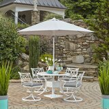 Flagg Cast Aluminum Outdoor 3 Piece Dining Set with Cushions