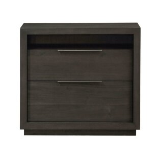 Price Check Oviedo Wooden 2 Drawer Nightstand by Williston Forge