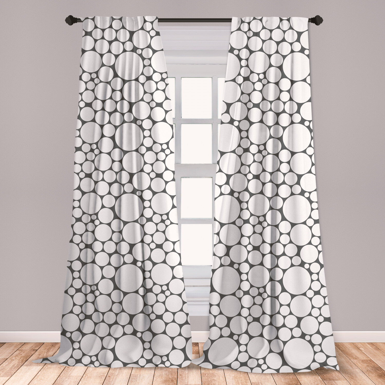 East Urban Home Circle Geometric Room Darkening Rod Pocket Curtain Panels Wayfair