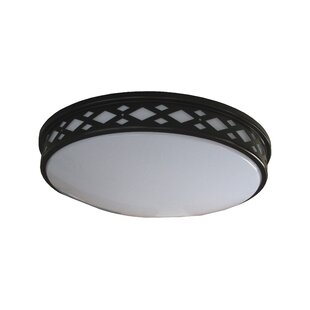Wrought Studio Breeze 1-Light LED Flush Mount