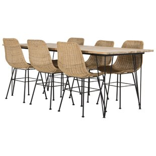 Nectar Dining Set With 6 Chairs By 17 Stories