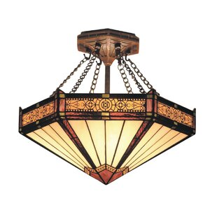 Astoria Grand Hammondale 3-Light Outdoor Semi-Flush Mount