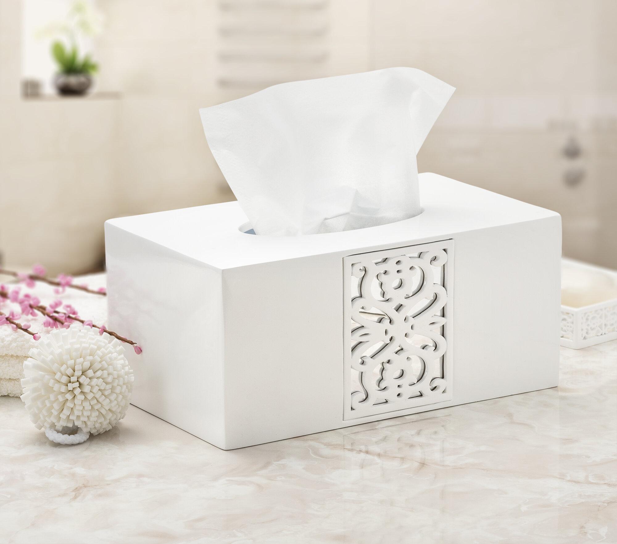 Tissue Box Desk Organizer Living Room Home Office Restaurant Rectangular Shape