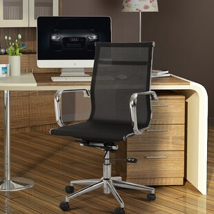 Adeco Trading Mid-Back Mesh Desk Chair