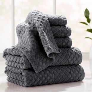 Flanagan 6-Piece Diamond Turkish Cotton Towel Set