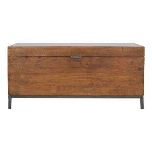 Metal Base Storage Bench by Artisan Furniture