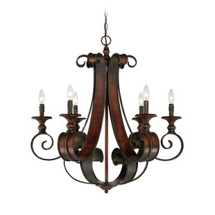 Fleur De Lis Living Jaime 6-Light Chandel..