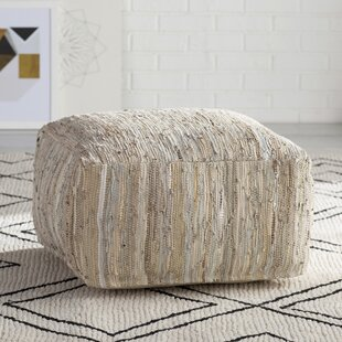 Bolin Leather Pouf