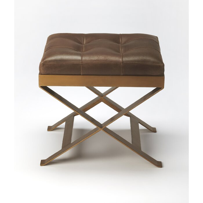 Groovy Hudgins Leather Vanity Stool Alphanode Cool Chair Designs And Ideas Alphanodeonline