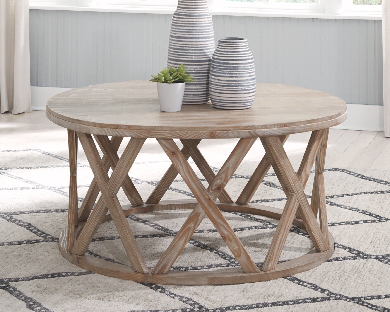 Coastal Farmhouse Sparr Solid Wood Frame Coffee Table Reviews Wayfair