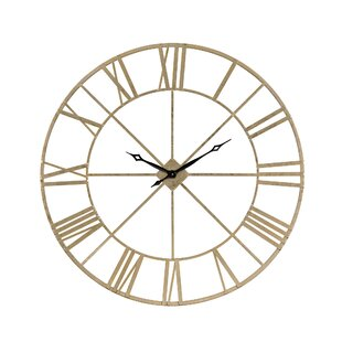 Oversized Round Gold 48 Wall Clock