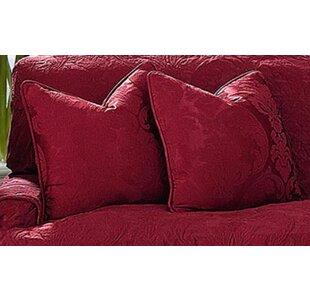 Matelasse Damask Pillow Box Cushion Slipcover by Sure Fit