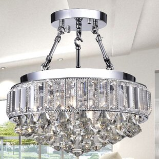 Check Prices Themis 4-Light Semi-Flush Mount By Wellyer Inc.