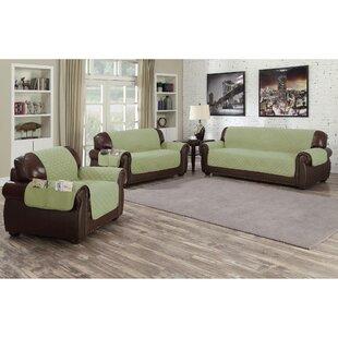 Shop Microfiber Box Cushion Sofa Slipcover by Red Barrel Studio