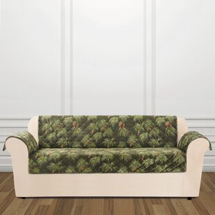 Find for Lodge Pinecone Box Cushion Sofa Slipcover by Sure Fit Reviews (2019) & Buyer's Guide