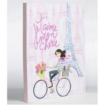 One Bella Casa Love From Nyc 6 Paintdots Girl By April Heather Graphic Art On Wrapped Canvas Wayfair