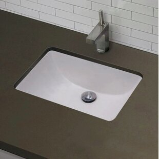 Searching for American Imaginations Ceramic Rectangular Undermount Bathroom Sink with Overflow By American Imaginations