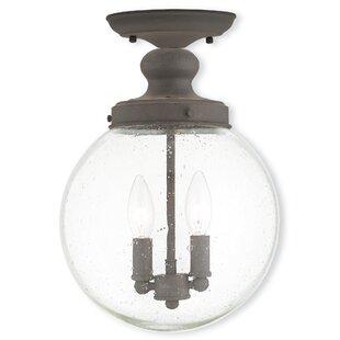 Gracie Oaks Avalon 2-Light Semi Flush Mount
