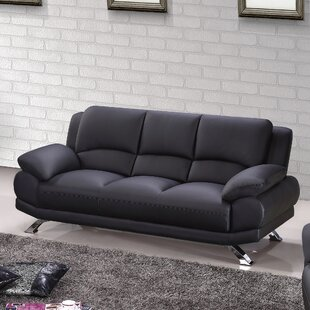 Shop Leather Sofa by Hokku Designs