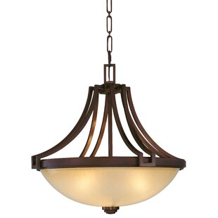 Metropolitan by Minka Underscore 3-Light Bowl Pendant