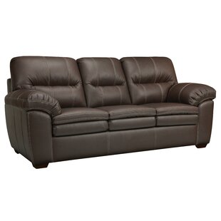 Latitude Run Woodberry Leather Sofa