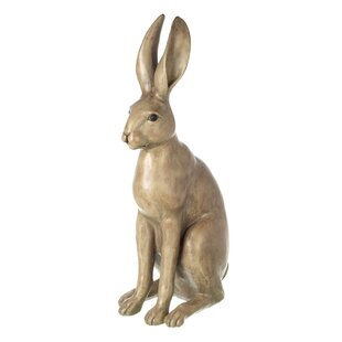 Holly Hare L by Harriet Glen Cold Cast Bronze Sculpture 26cm