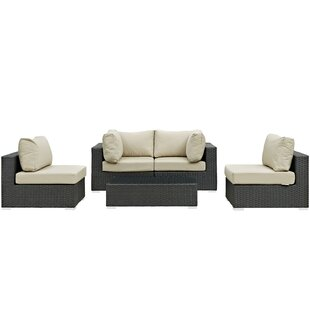Tripp 5 Piece Sunbrella Sectional Set With Cushions by Brayden Studio Sale